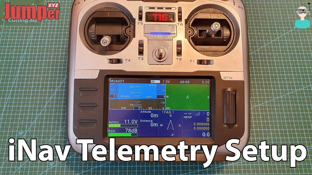 Jumper T16 - iNav Telemetry Setup