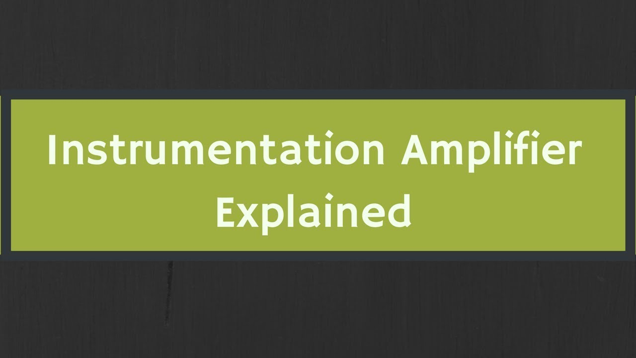 Three Op Amps Instrumentation Amplifier