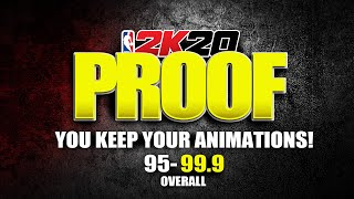 100% PROOF YOU KEEP YOUR ANIMATIONS WHEN OVERALL DROPS ★ SPEEDBOOST AND CONTACT DUNKS ★ NBA 2K20