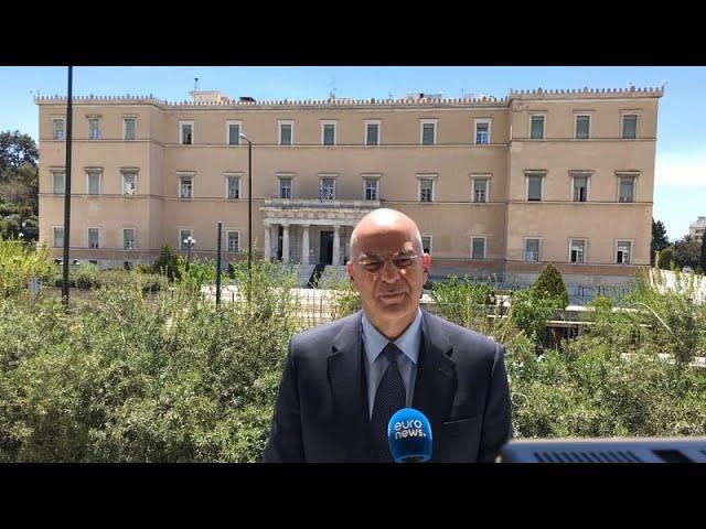 <span class='as_h2'><a href='https://webtv.eklogika.gr/' target='_blank' title='Ν.Δένδιας στο euronews: Η Τουρκία πρέπει να δεχτεί το διεθνές δίκαιο για να προχωρήσουμε…'>Ν.Δένδιας στο euronews: Η Τουρκία πρέπει να δεχτεί το διεθνές δίκαιο για να προχωρήσουμε…</a></span>
