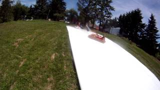 Jimmy Thielman Jumping On Air Bed Going Down Water Slide