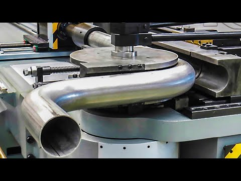 Amazing Semi-Automatic Pipe Bending Machine At Work, Excellent Production Process Mechanical Factory