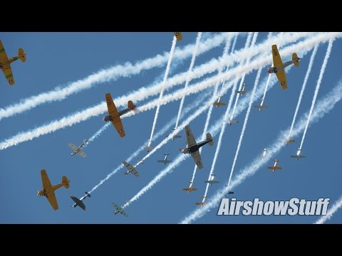 Warbird Extravaganza! Mass Formations/Fighters/Bombers - EAA AirVenture Oshkosh 2015