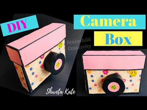 DIY Paper Camera Box | Photo Box Tutorial | Camera Box Craft