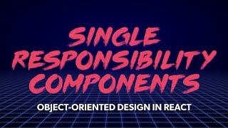 Front de Fin de Centre de Responsabilité Unique de Composants: Conception Orientée Objet à Réagir