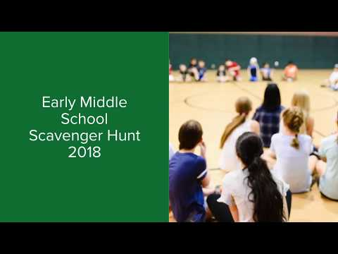 Early Middle School Scavenger Hunt 2018