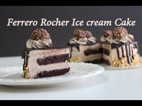 Ferrero Rocher Ice Cream Cake Eggless Nutella Ice Cream