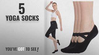 Top 10 Yoga Socks [2018]: Women's No Show Low Cut Hospital Slipper Socks Great for Barre Pilates