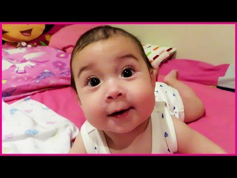 Thumbnail: Cute Baby Are You Sleeping Nursery Rhyme Song, Cute Baby Tries to Crawl First Time, Try Not to Laugh