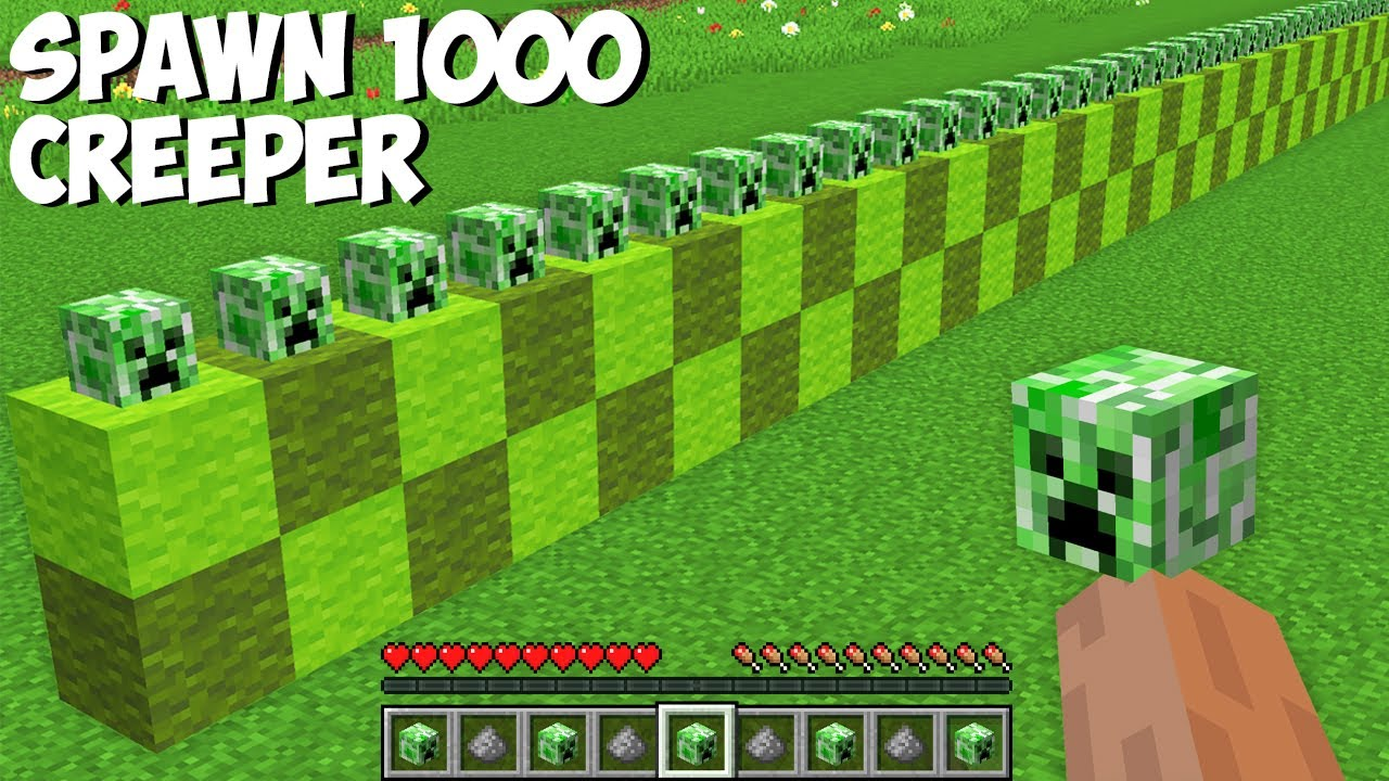 You CAN SPAWN 1000 CREEPERS AT ONCE in Minecraft ! HOW TO SUMMON CREEPER ARMY !