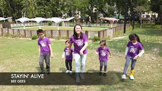 Stayin' Alive  Bee Gees  Easy Choreography for Kids & Family Dance