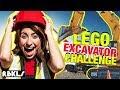 LEGO Construction Excavator Challenge - REBRICKULOUS