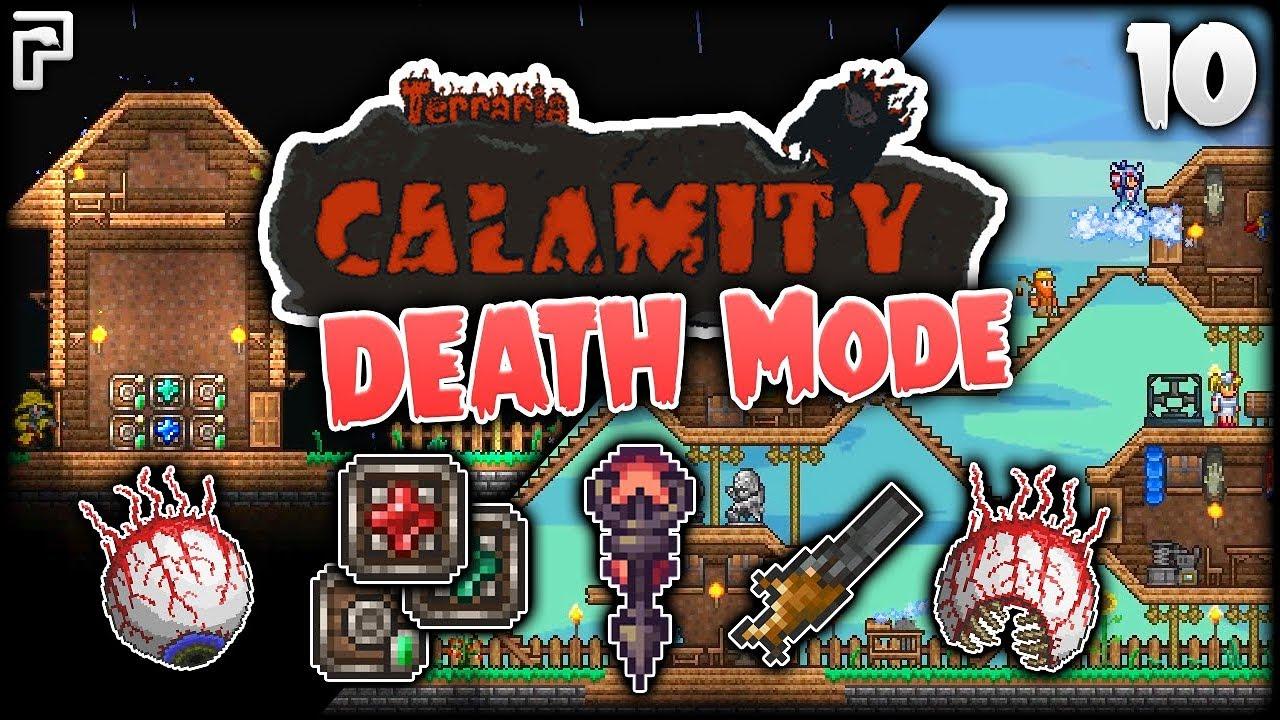 Magic Storage Mod & A CLOSE Encounter! | Terraria Calamity Mod Death Mode  Let's Play [Episode 10]