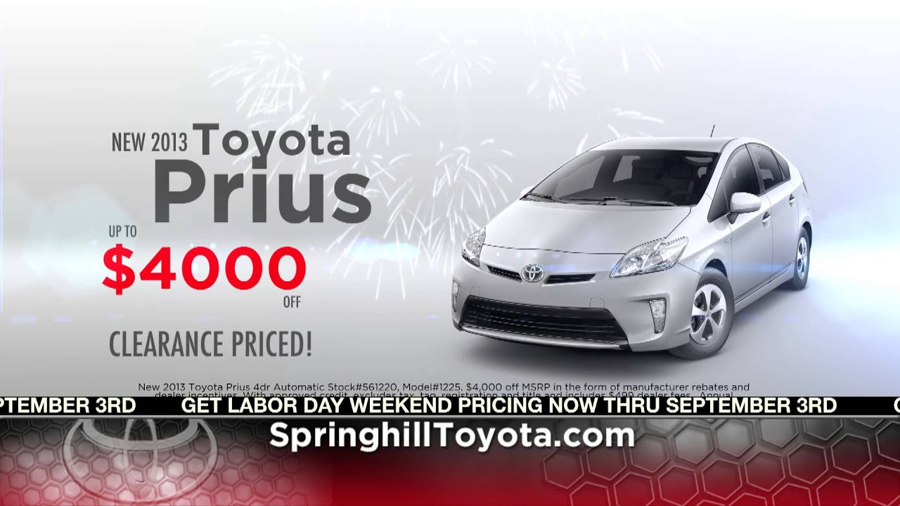 Springhill Toyota Labor Day Specials At Mobile, AL Serving Daphne And  Spanish Fort, AL.