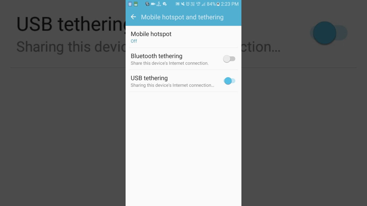 how to use android usb tethering
