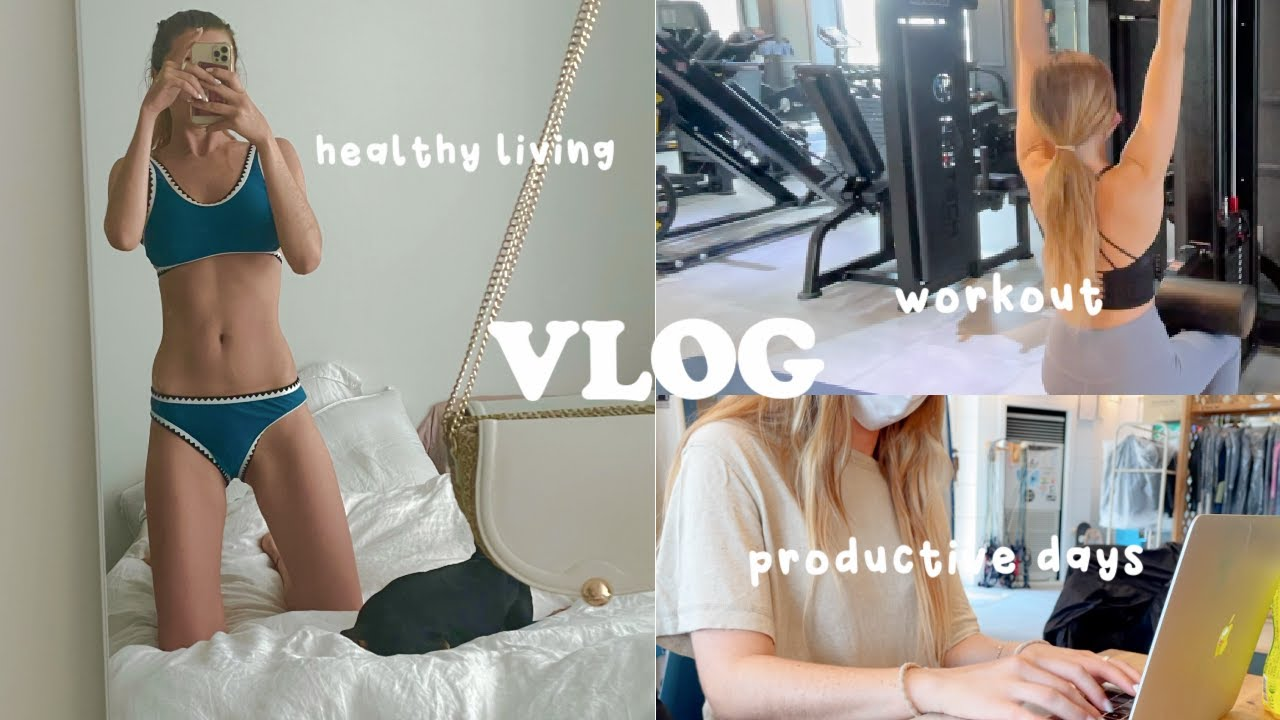 Living Alone in Korea Vlog 🏡🎬  Exercise, Productive Days + Summer Routine 🏄♀️