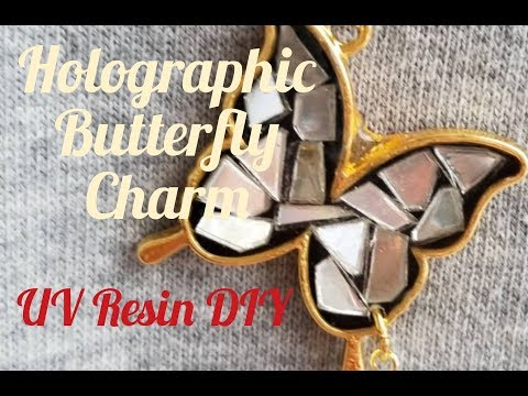 UV Resin DIY Holographic Butterfly Charm