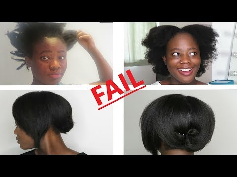 Straightening My Natural 4C Hair | FAIL !!!