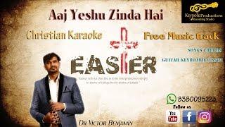 Easter Hindi Song│Christian Karaoke│Aaj Yeshu Zinda Hai│Music Track│Guitar Keyboard Lessons