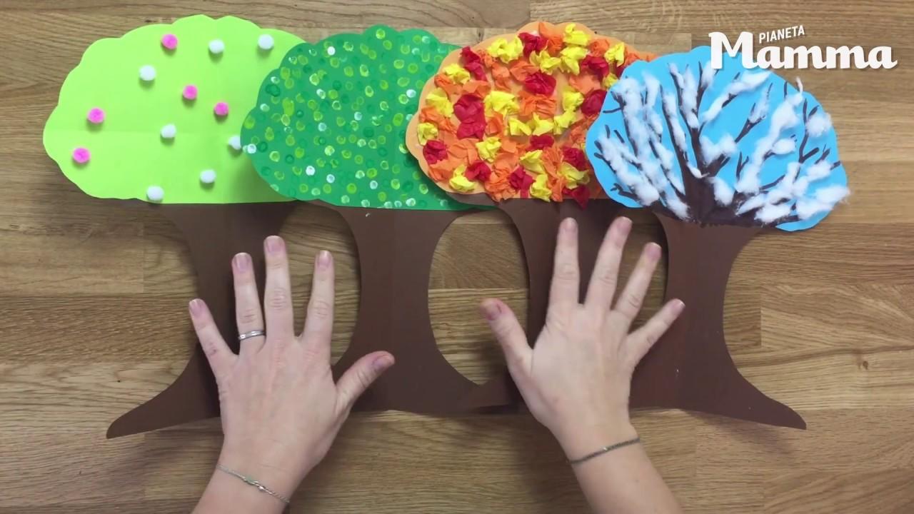 Albero delle stagioni fatto in casa tutorial youtube for Foto di alberi da colorare