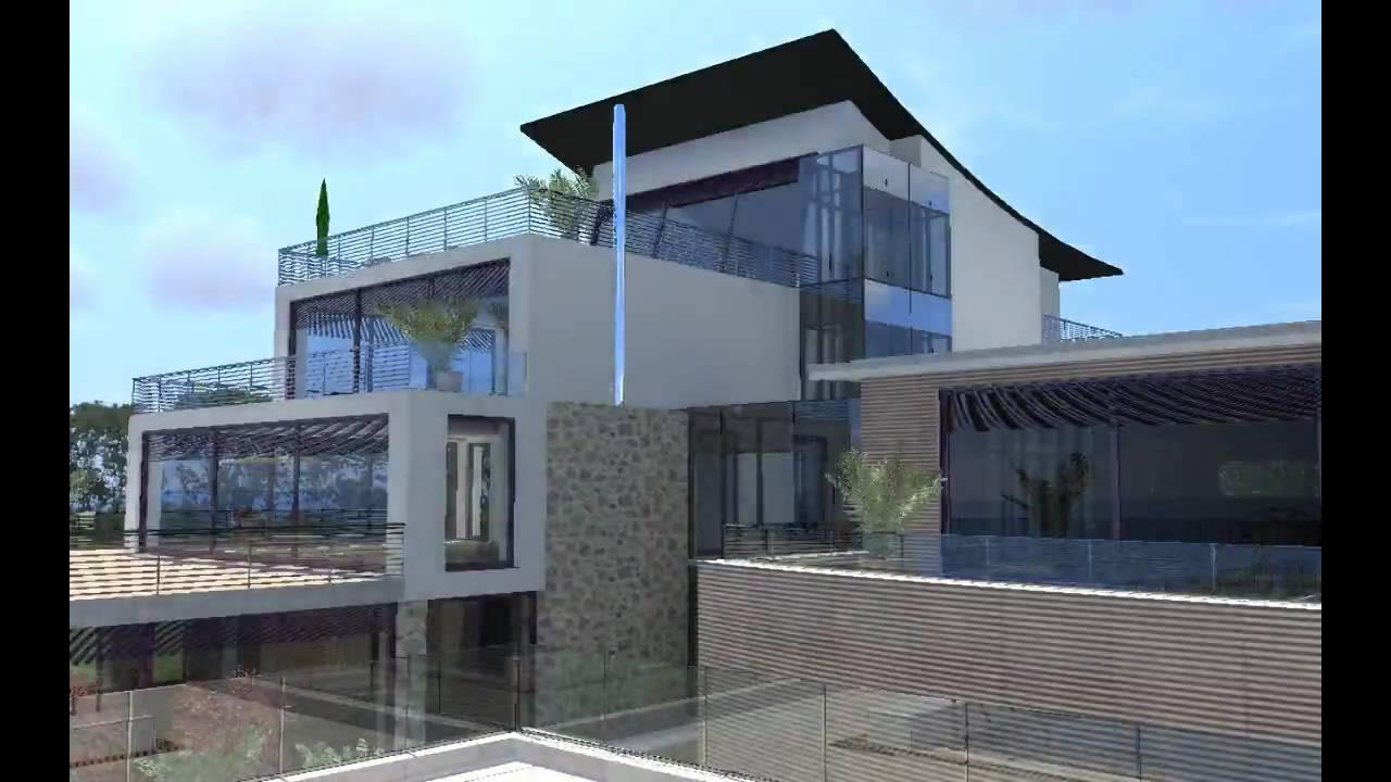 The ark house 3d architectural animation with artlantis for Home architecture you tube