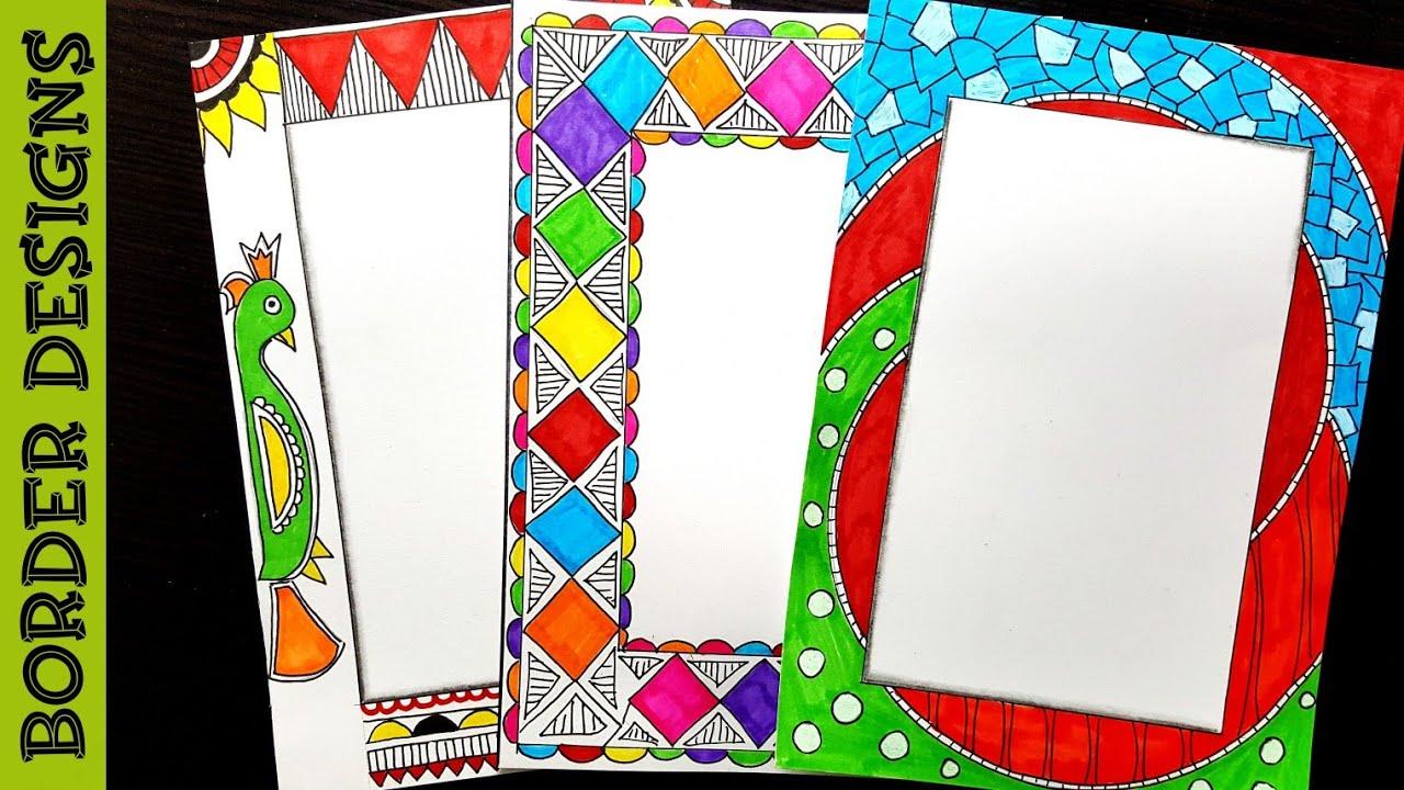 Border designs on paper|Border Designs|Project work ...