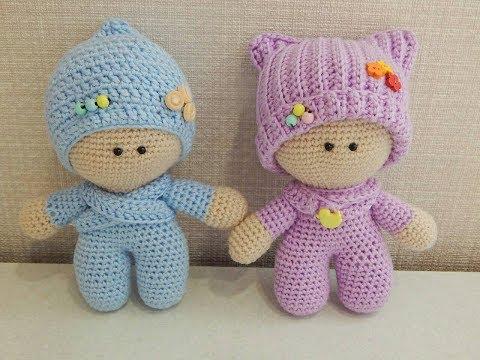 Вязаные куклы пупсы своими руками