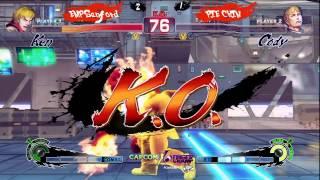 USF4 Exhibition Pie Chin(Cody) Vs EMP Sanford (Ken) FT5 Ultra Street Fighter 4.