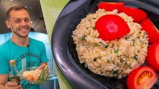 Завтрак из риса с яйцом, быстрый, вкусный, сытный и без мяса!