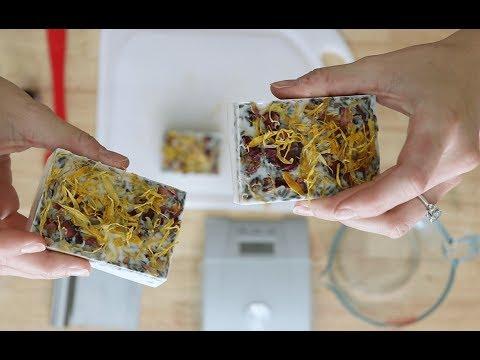 DIY Botanical Flower Soap - Lavender Marigold Rose Bud Melt And Pour Soap Tutorial