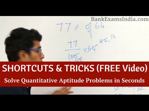 Shortcuts to solve Quantitative Aptitude Questions in Bank & Govt Exams