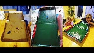 How To Make A Portable Soccer Game In A Pizza Box - Футбольна гра у пачці для піци (Як зробити)
