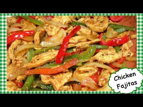 Healthy Mexican Food Chicken Fajitas Recipe