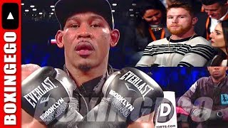 DANIEL JACOBS RINGSIDE @ CANELO ALVAREZ VS. ROCKY FIGHT - CALLS OUT CANELO FOR MAY 2019| BOXINGEGO