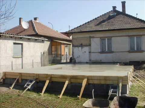 házalap készítés,házalap betonozása, betonozás, sóderágy, lábazat ...