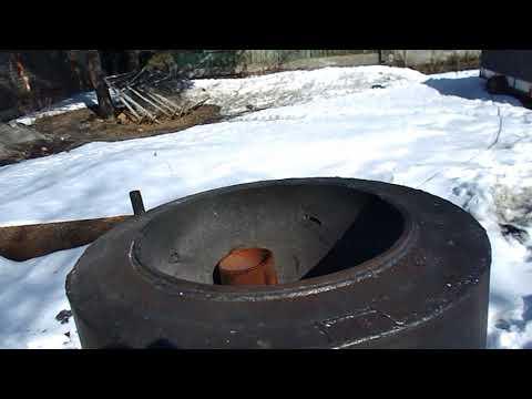 Мусоросжигательная печь - открытого горения