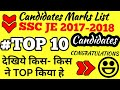 SSC JE 2017 FINAL RESULT LIST  WITH CANDIDATE'S NAMES AND DEPARTMENT | TOPPERS OF 2017