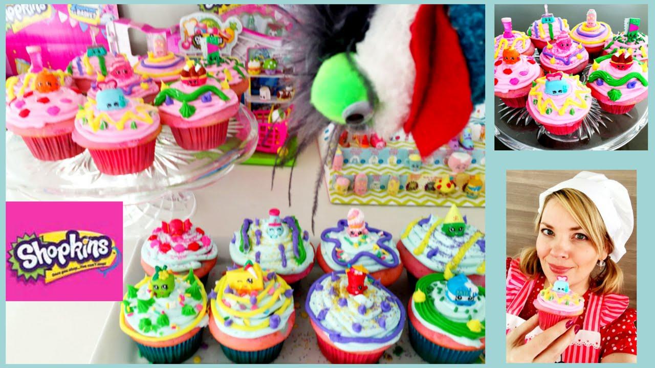 Shopkins Poppy Corn Cupcake Cake