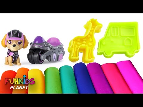 Thumbnail: Learning Videos for Children: Paw Patrol Skye & Chase Super Pups Play With Play-doh Giraffe Molds
