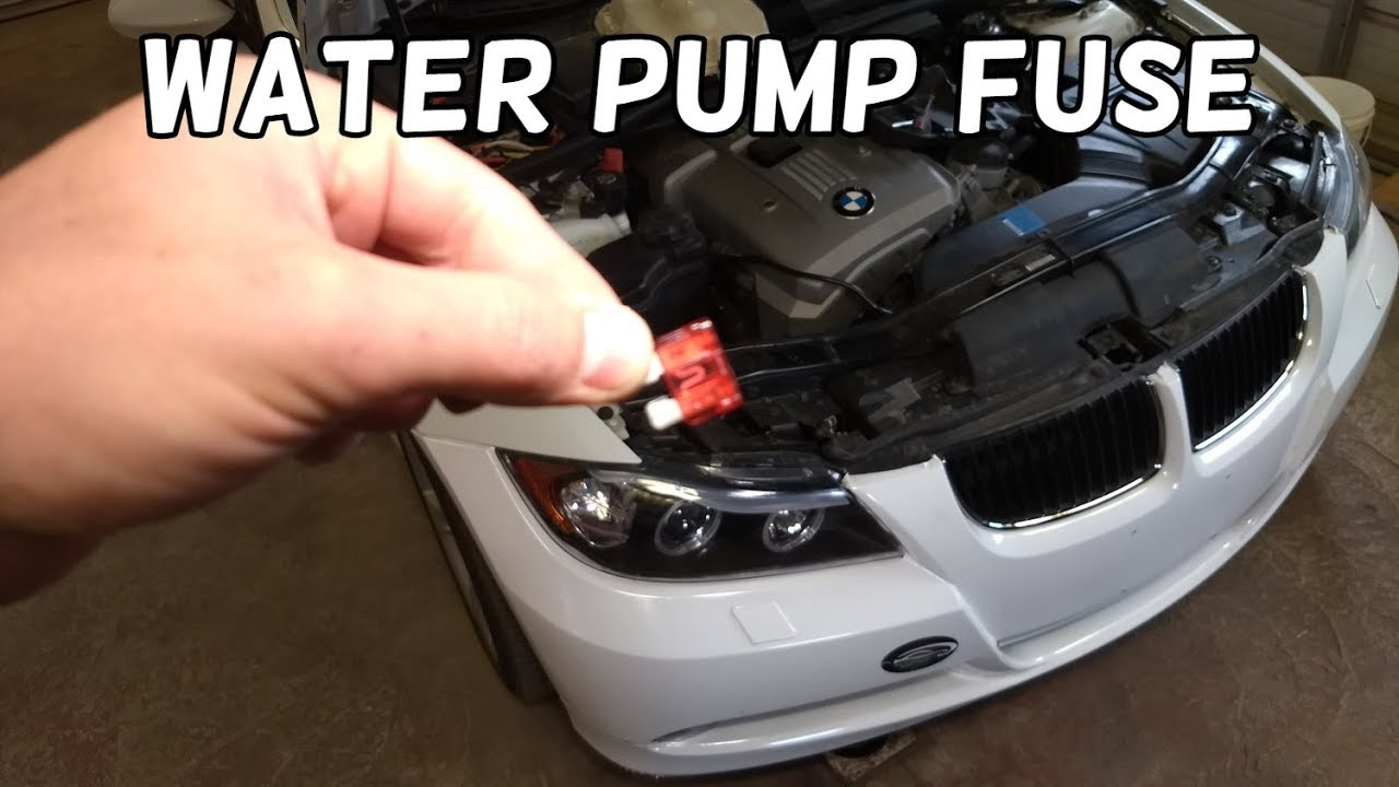 small resolution of coolant water pump fuse location and replacement bmw e90 e91 e92 e93 bmw overheating