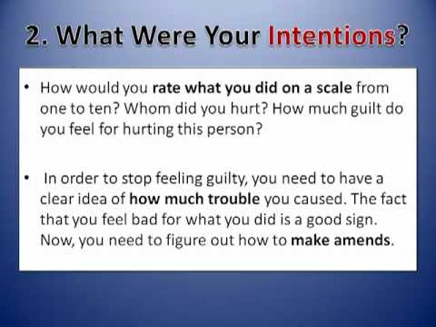 How To Stop Feeling Guilty Step By Step Guide Youtube