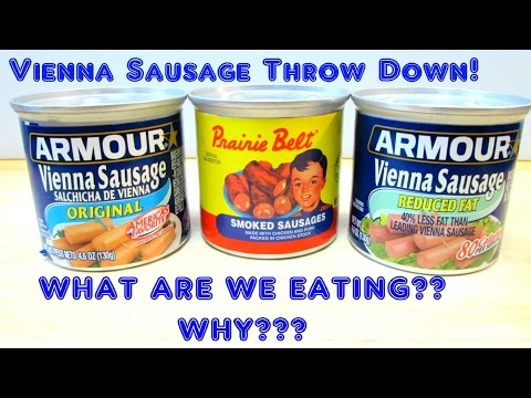 Vienna Sausages THROW DOWN #1 - WHAT ARE WE EATING??? - The Wolfe Pit