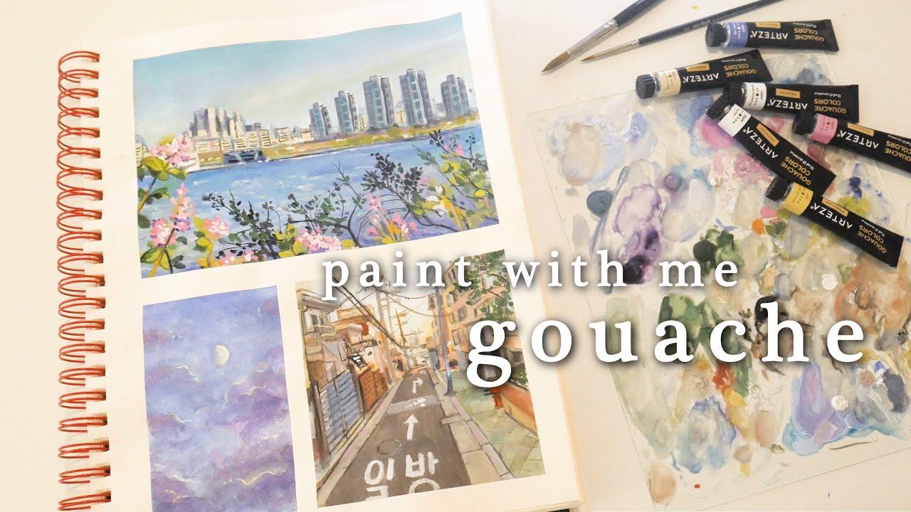 paint with me (gouache) ft. arteza 。