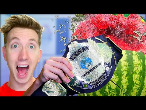 5 WWE Weapons vs Fruit Ninja