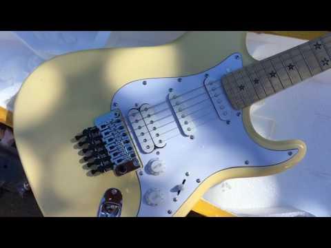 My First Chinese Guitar, Unboxing, Sambora - Sort Of - Floyd Rose - Star Inlays