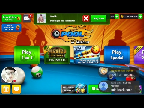 8 Ball Pool Free Giveaway .. Subscribe and then send challange