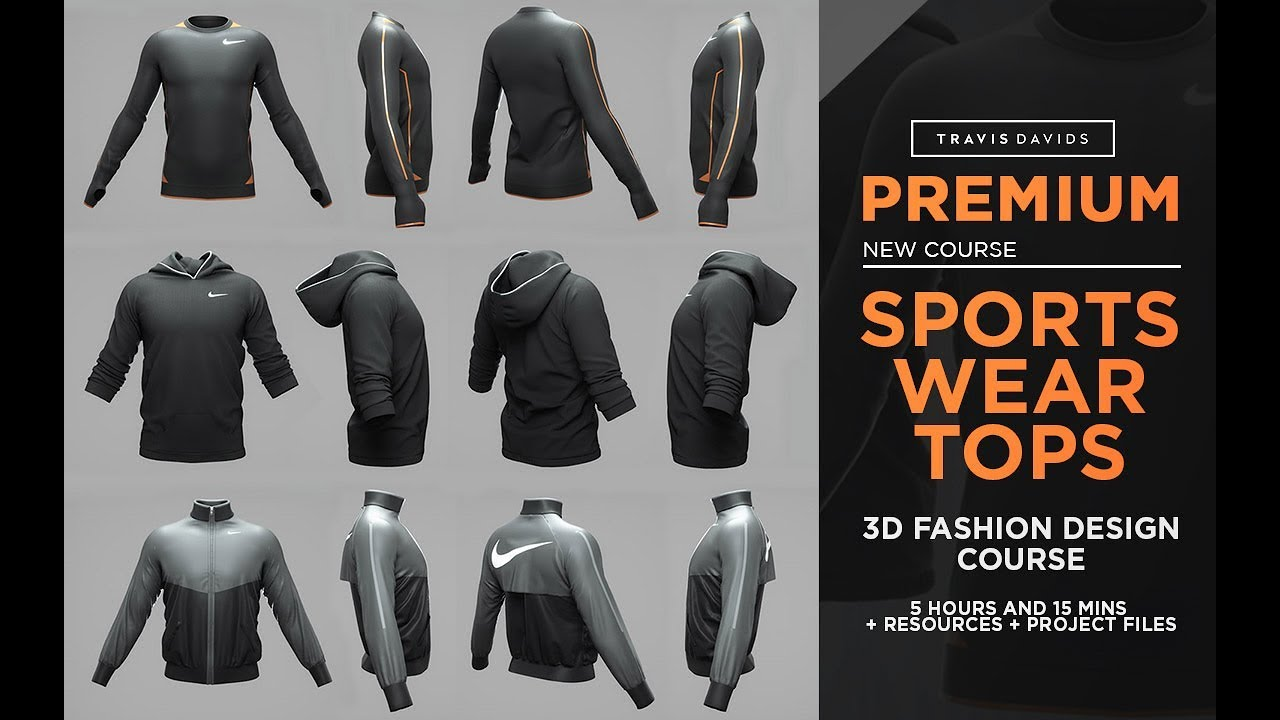 New Course Sportswear Tops 3d Fashion Design Course Youtube