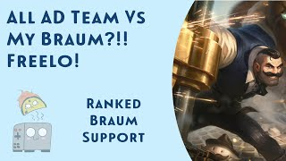 Braum vs All AD Enemy Team is Freelo! Taco Toaster's Trip to Masters - League of Legends