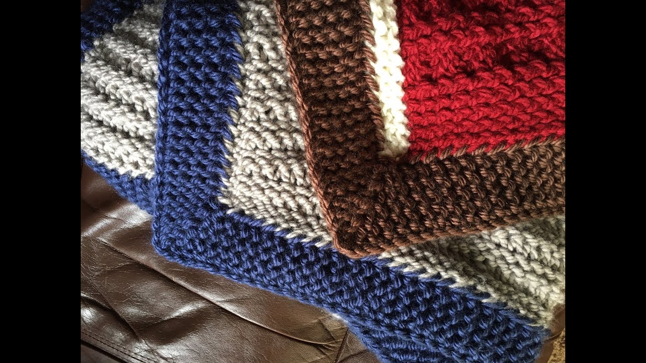 Adding a Garter Ridge Edge to a Blanket with a Knitting Loom - YouTube
