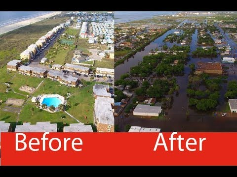 Port aransas in texas before the hurricane after the for Port a texas